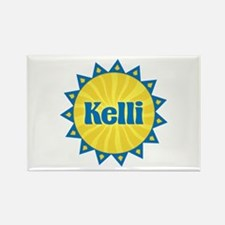 Kelli Sunburst Rectangle Magnet