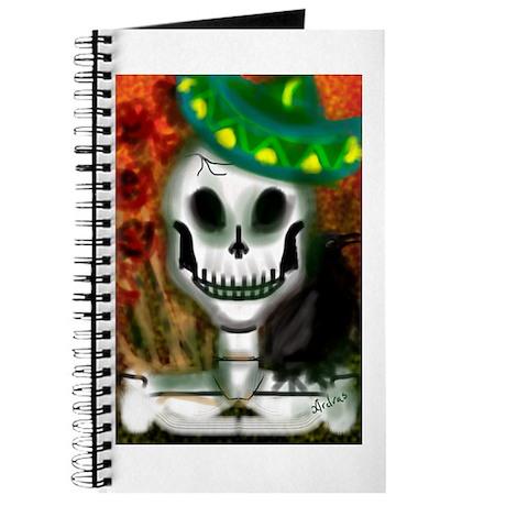 Skull in Green Sombrero Journal