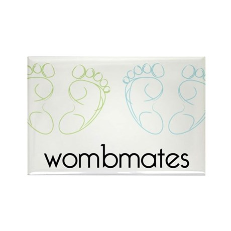 Wombmates Rectangle Magnet