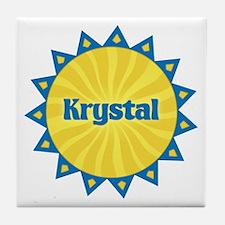 Krystal Sunburst Tile Coaster