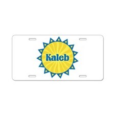 Kaleb Sunburst Aluminum License Plate