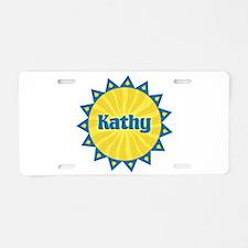 Kathy Sunburst Aluminum License Plate