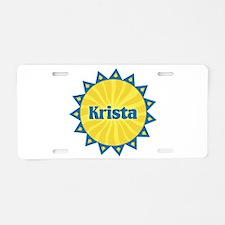 Krista Sunburst Aluminum License Plate