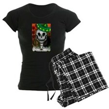 Skull in Green Sombrero Pajamas