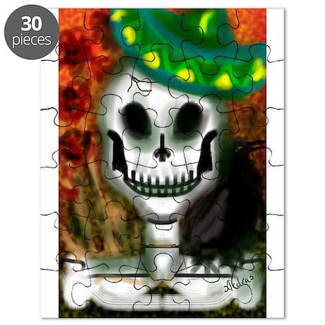 Skull in Green Sombrero Puzzle