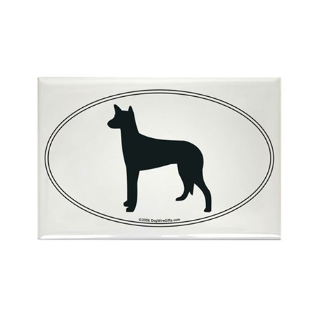 Ibizan Hound Silhouette Rectangle Magnet