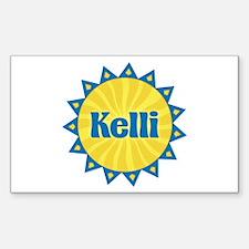 Kelli Sunburst Rectangle Decal