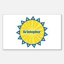 Kristopher Sunburst Rectangle Decal