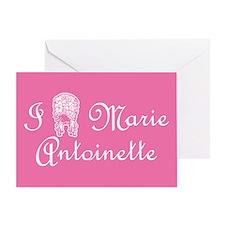 I Love (Wig) Marie Antoinette Pink Greeting Card