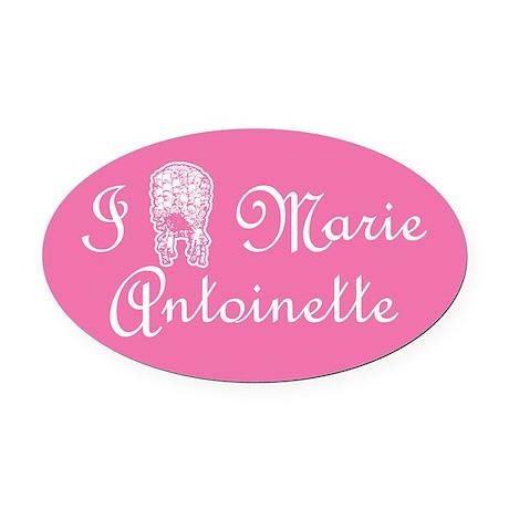 I Love (Wig) Marie Antoinette Pink Oval Car Magnet