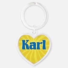 Karl Sunburst Heart Keychain
