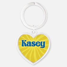 Kasey Sunburst Heart Keychain