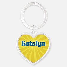 Katelyn Sunburst Heart Keychain
