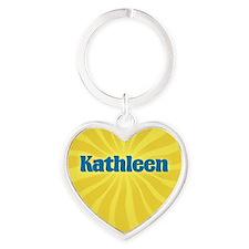 Kathleen Sunburst Heart Keychain