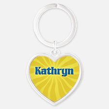 Kathryn Sunburst Heart Keychain