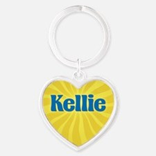 Kellie Sunburst Heart Keychain