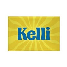 Kelli Sunburst Rectangle Magnet