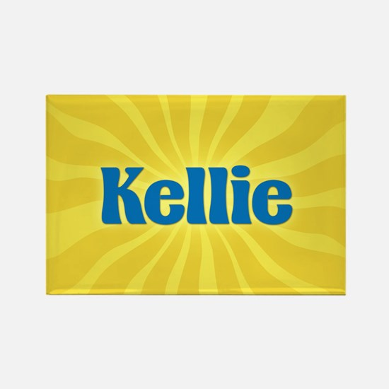 Kellie Sunburst Rectangle Magnet