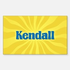 Kendall Sunburst Oval Decal
