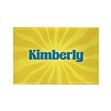 Kimberly Sunburst Rectangle Magnet