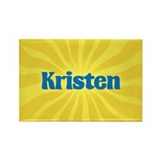 Kristen Sunburst Rectangle Magnet