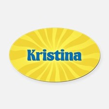 Kristina Sunburst Oval Car Magnet