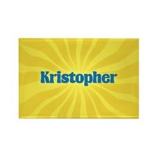 Kristopher Sunburst Rectangle Magnet