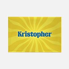 Kristopher Sunburst Rectangle Magnet