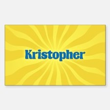 Kristopher Sunburst Oval Decal