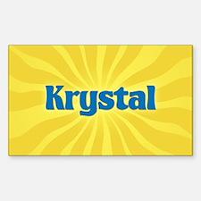 Krystal Sunburst Oval Decal