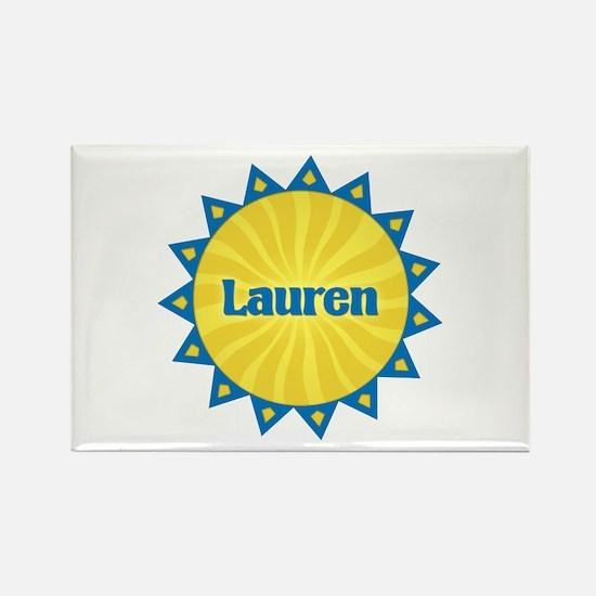 Lauren Sunburst Rectangle Magnet