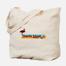 Amelia Island - Beach Design. Tote Bag