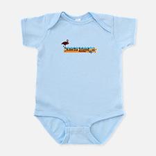Amelia Island - Beach Design. Infant Bodysuit