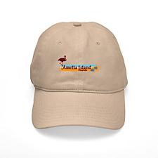 Amelia Island - Beach Design. Baseball Cap