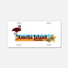 Amelia Island - Beach Design. Aluminum License Pla