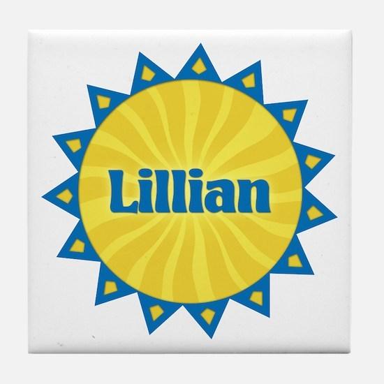 Lillian Sunburst Tile Coaster