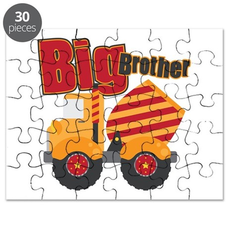 Big Bro Red Cement Truck Puzzle