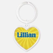 Lillian Sunburst Heart Keychain