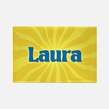 Laura Sunburst Rectangle Magnet