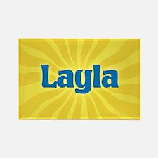 Layla Sunburst Rectangle Magnet
