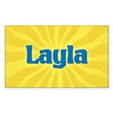 Layla Sunburst Oval Decal