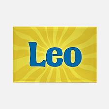 Leo Sunburst Rectangle Magnet