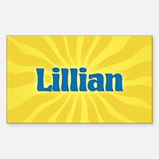 Lillian Sunburst Oval Decal