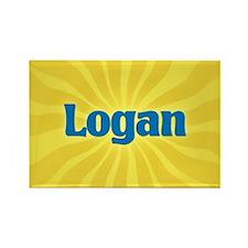 Logan Sunburst Rectangle Magnet