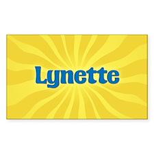 Lynette Sunburst Oval Decal