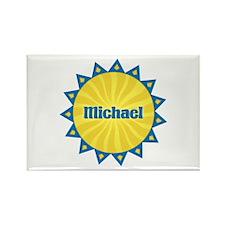 Michael Sunburst Rectangle Magnet