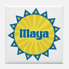 Maya Sunburst Tile Coaster