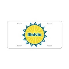 Melvin Sunburst Aluminum License Plate