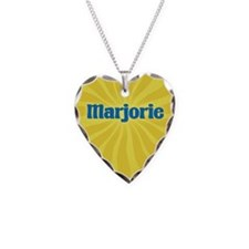 Marjorie Sunburst Necklace Heart Charm