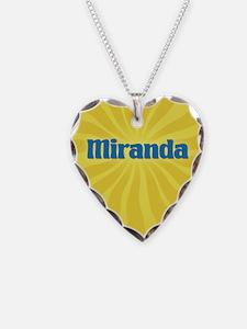 Miranda Sunburst Necklace Heart Charm
